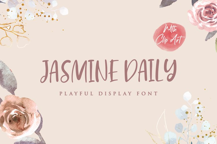 Jasmine Daily - Playful Display Font example image 1