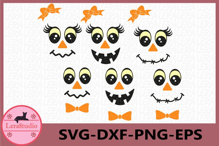 Face Svg, Cute ghost Faces Svg, Cute Faces Svg, Halloween example image 1
