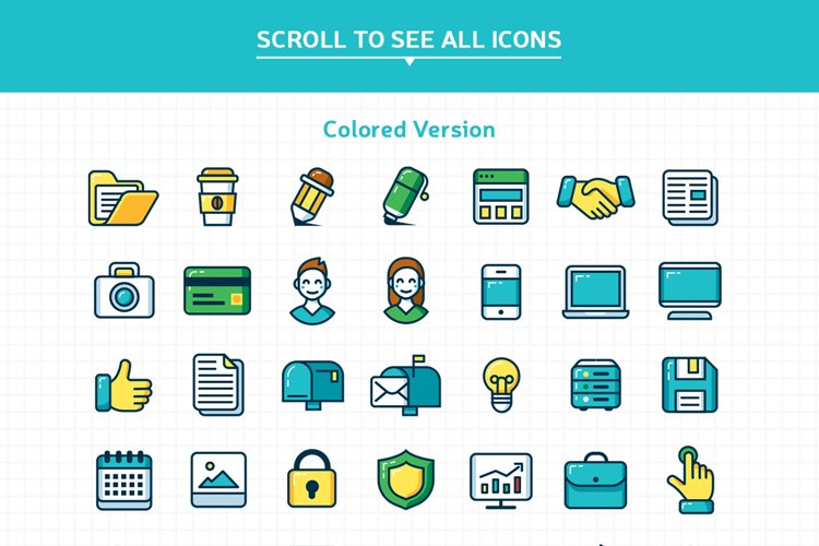 Customizable Outline Icons Set - Free Design of The Week Design3