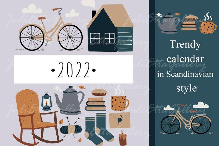 2022 // Trendy calendar in Scandinavian style
