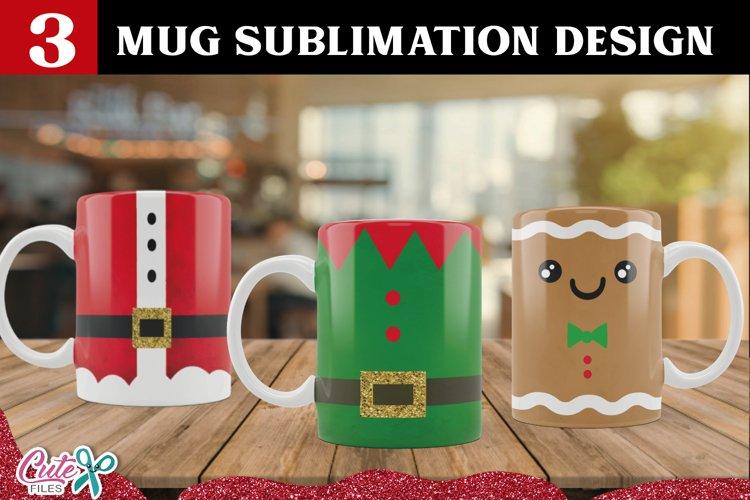Christmas mug sublimation design