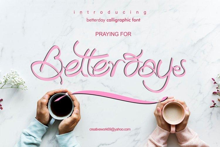 Betterday Calligraphic example image 1