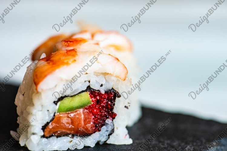 Sushi Set sashimi and sushi rolls example image 1