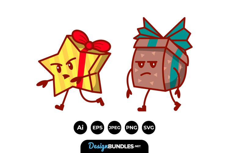 Gift Boxes Cartoon example image 1