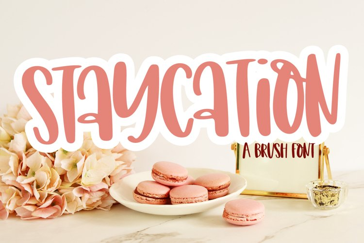 Staycation - A Tall Hand Lettered Font