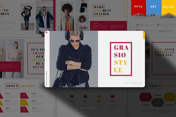 Grasiostyle | Powerpoint, Keynote, GoogleSlides Template example image 1