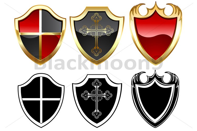 Three Gold Shields example image 1