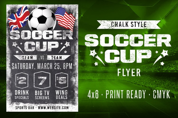 Chalk Soccer Sports Flyer example image 1