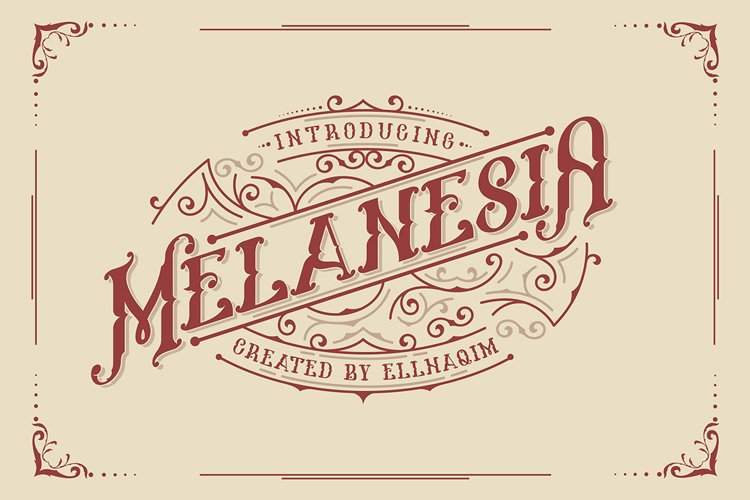 Melanesia Font example