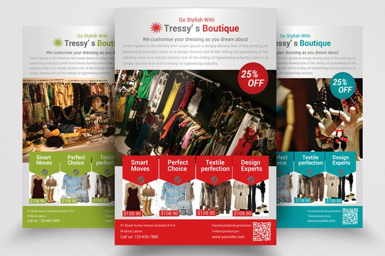 Boutique & Outfit Store Flyer Template example image 1