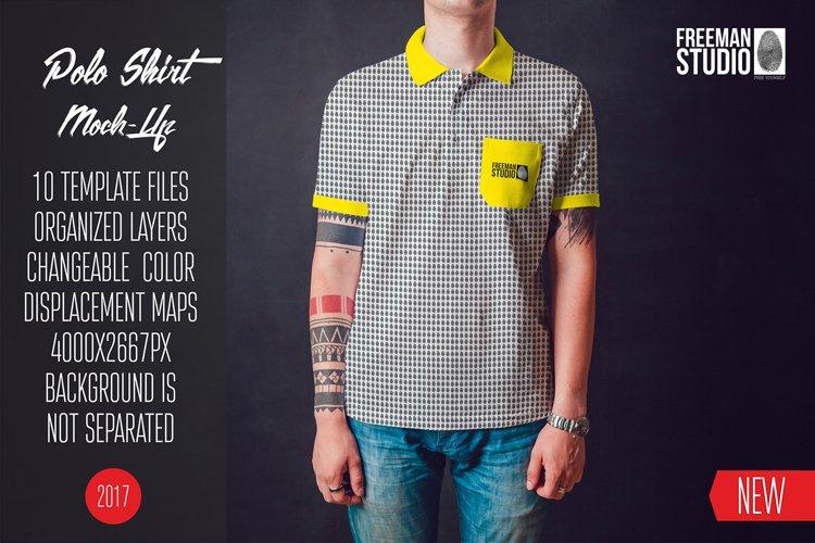 Polo Shirt Mock-Up Vol.1 2017 example image 1