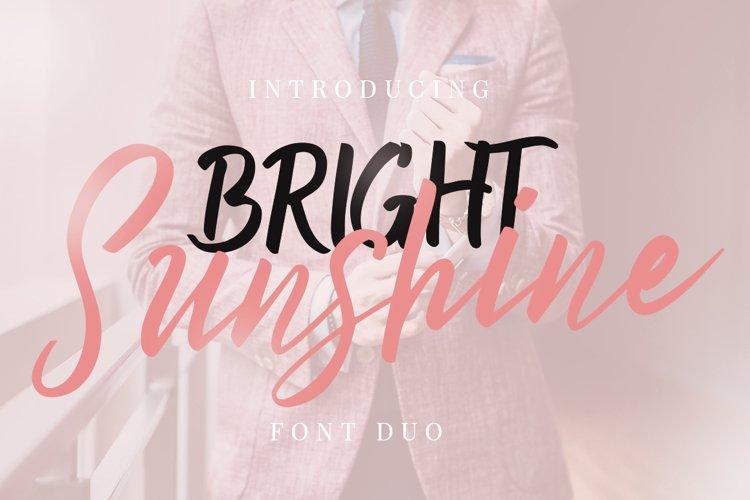 Bright Sunshine Font Duo example image 1