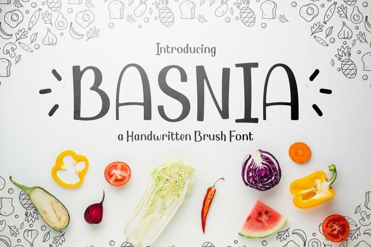 Web Font Basnia example image 1