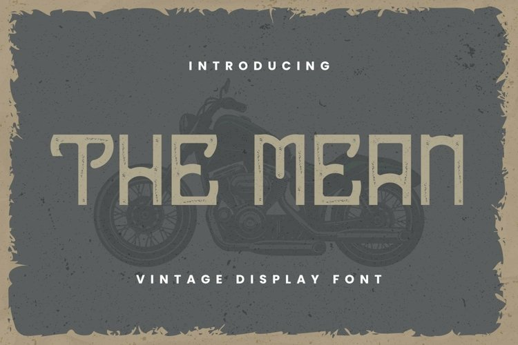 Web Font The Mean Font example image 1