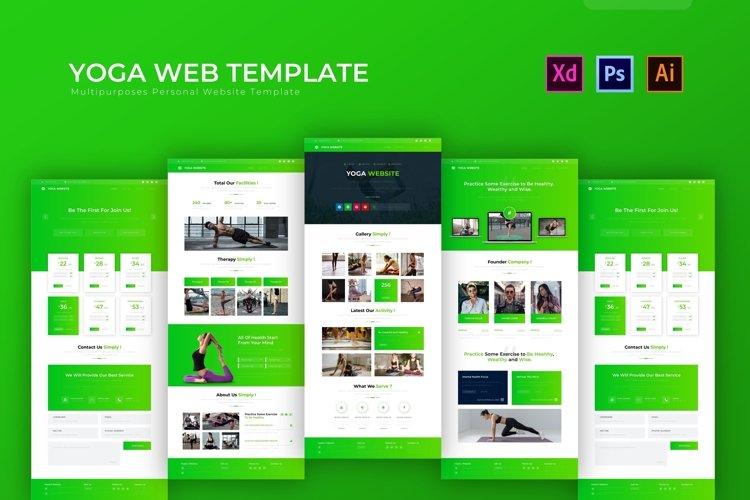 Yoga | Web Template example image 1