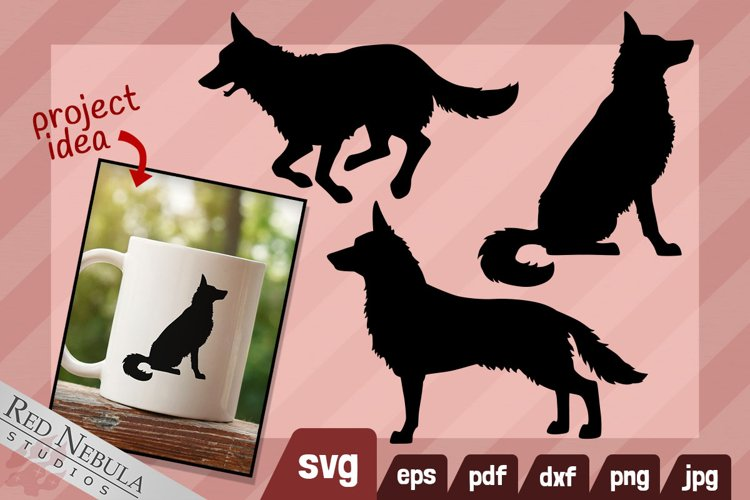 German Shepherd SVG - Dog Silhouette Clipart   Housepets
