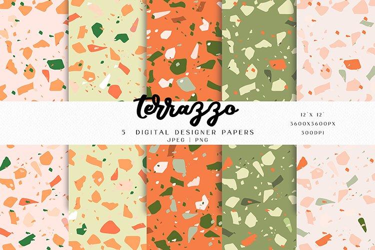 5 Terrazzo Seamless Digital Paper