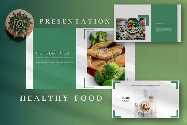 Healthy Food - Creative Google Slides example image 1