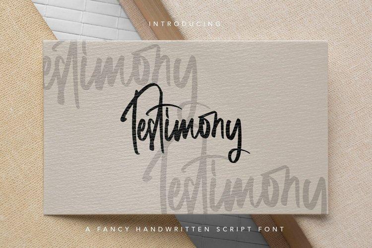 Web Font Testimony - Fancy Handwritten Font example image 1