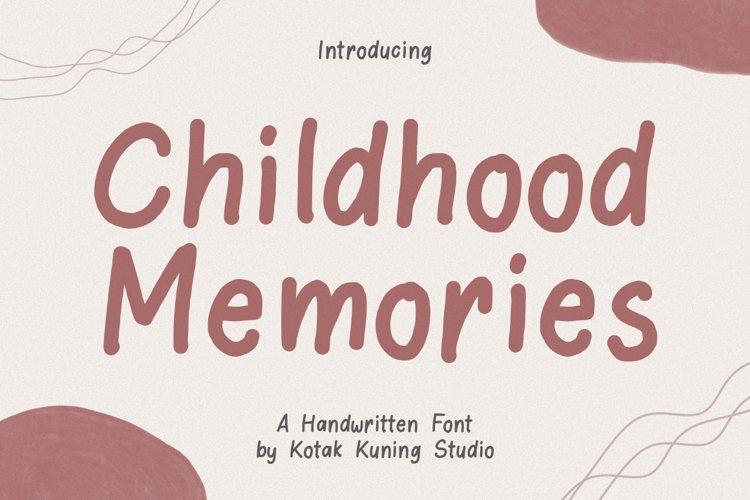 Funny Handwritten Font - Childhood Memories example image 1