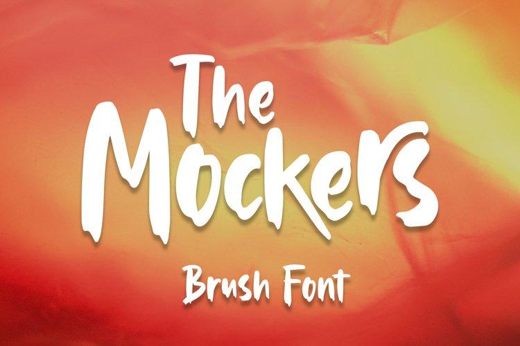 Mockers - Brush Font example image 1