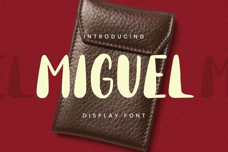 Web Font Miguel Font example image 1