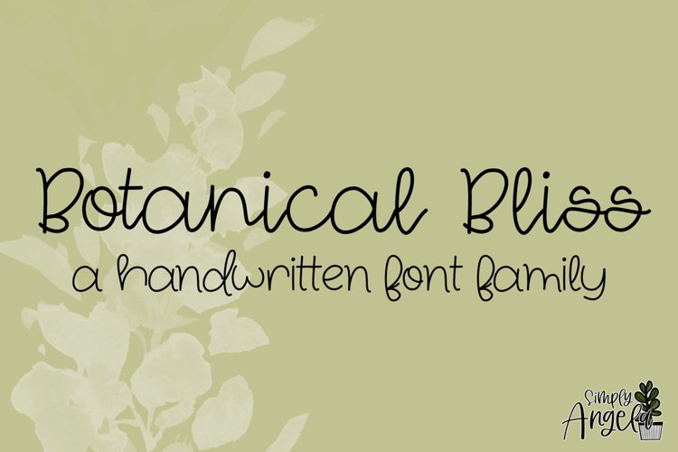 Botanical Bliss - a smooth handwritten script font example image 1