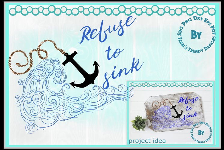 refuse to sink faith hope strength encouragement anchor example image 1