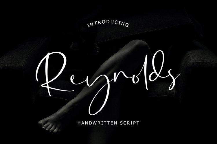 Reynolds Handwritten Script example image 1
