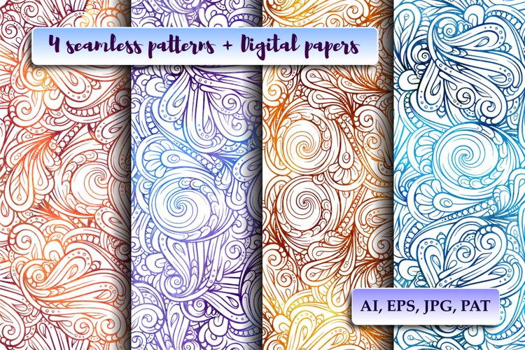 4 colorful fancy patterns