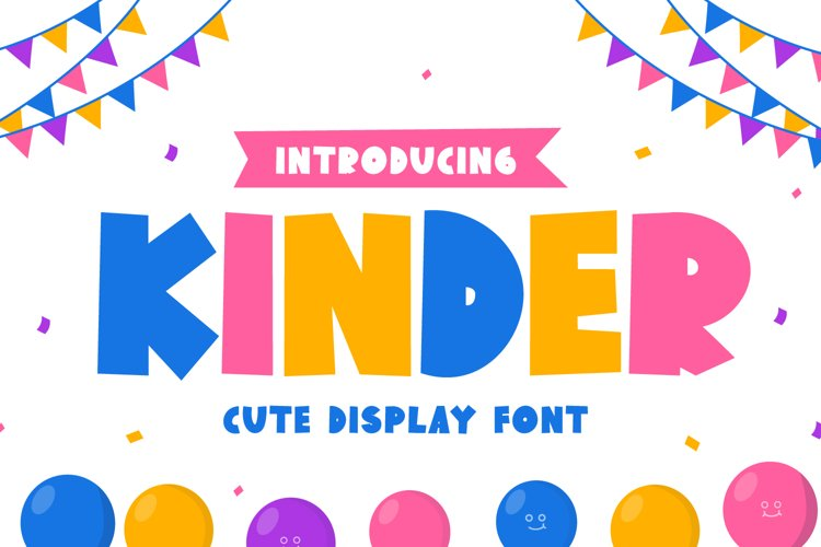 Kinder - Cute Display Font example image 1