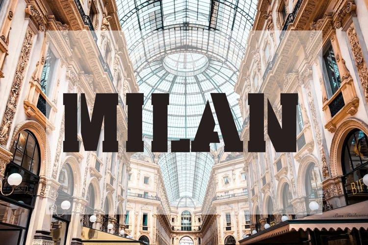 Milan Stencil - Urban City Font example image 1