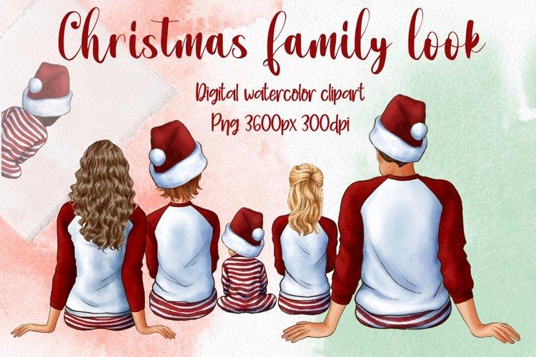 Christmas Family Look Clipart, Winter Family Art