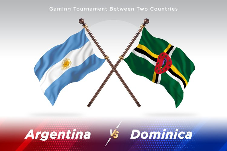 Argentina vs Dominica Two Flags example image 1