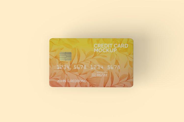 Top View Credit Card Mockup example image 1