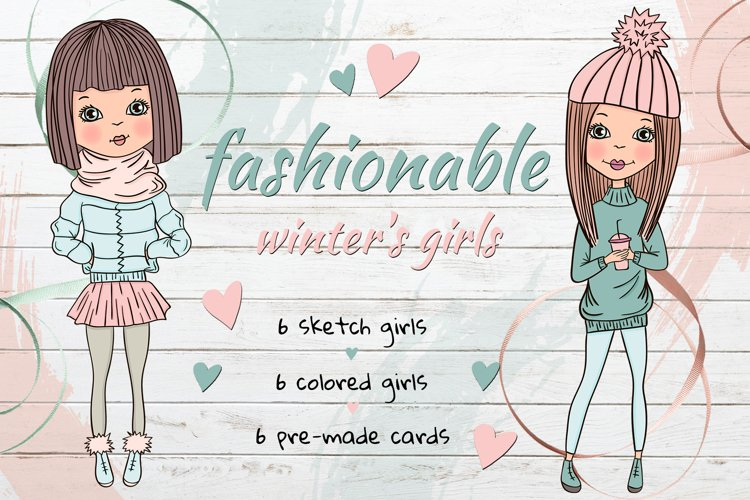 Fashionable winter's girls example image 1