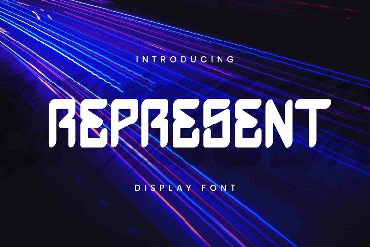 Web Font Represent Font example image 1