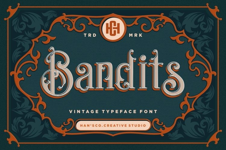 Bandits Vintage Font example image 1