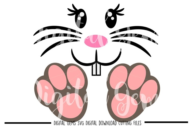 Rabbit face and feet SVG / PNG / EPS / DXF files example image 1