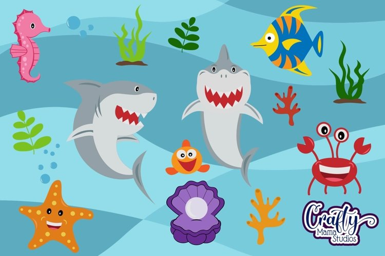 Baby Shark Svg, Shark Bundle Svg, Sublimation, Cut File example image 1