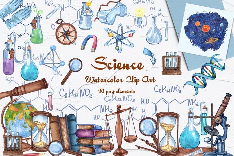 Science Watercolor Clip Art example image 1