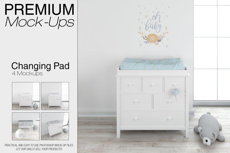 Baby Changing Pad Mockup Set example image 1