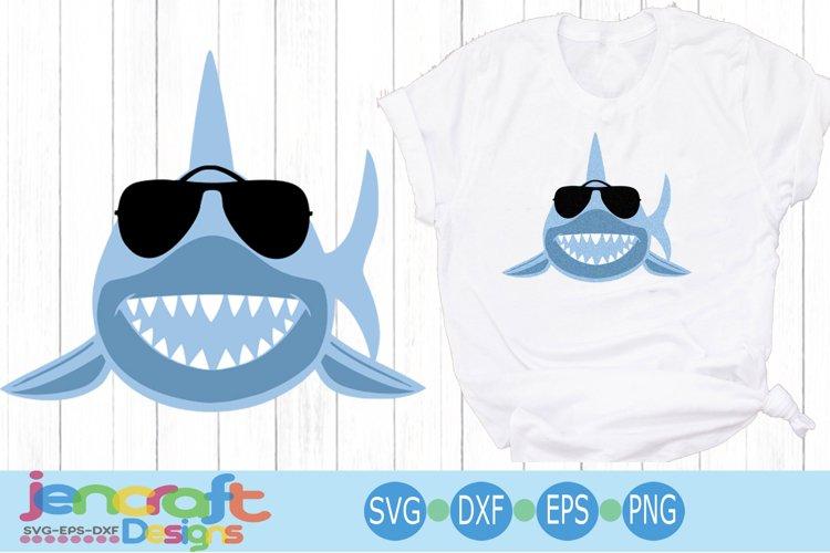 Cool Shark Svg, Sunglasses svg, eps, dxf, png