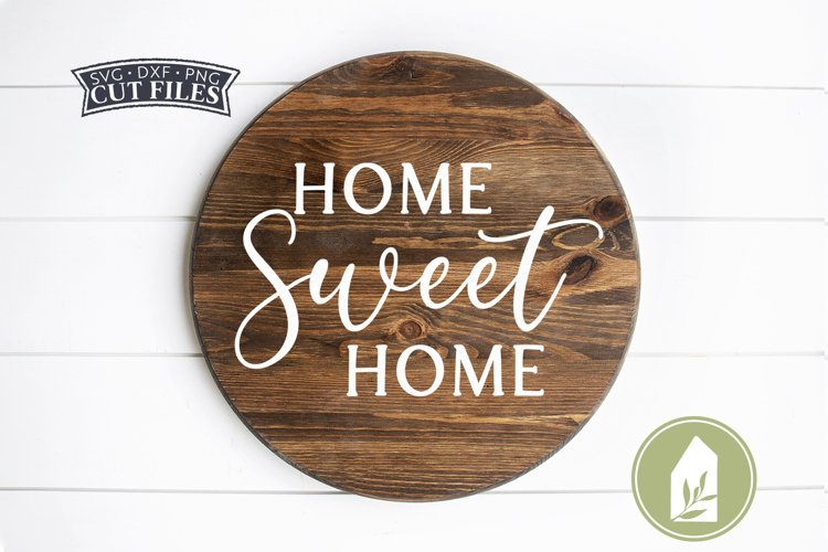 Home Sweet Home Farmhouse SVG Files, Round Sign SVG example image 1