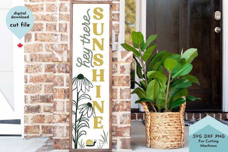 Hello Summer SVG, Vertical Sign, Front Porch, Sunshine