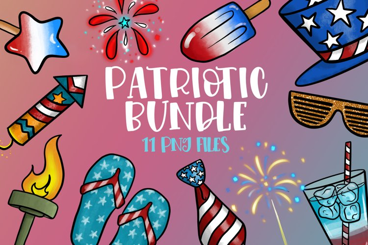 Patriotic Bundle| 4th of July Clipart | Themed Clipart