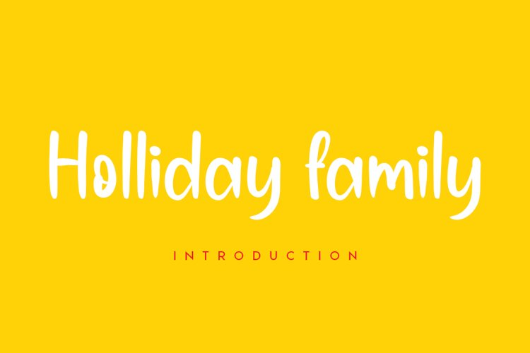 Holliday family example image 1