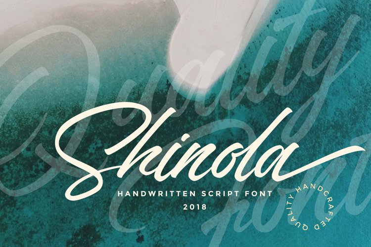 Shinola Handwritten Script example image 1