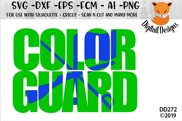 Color Guard Knockout SVG