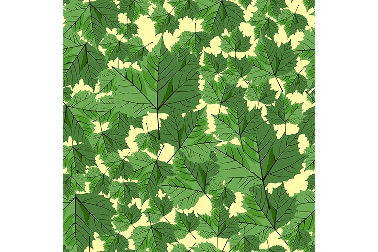 Seamless pattern with maple leafs background example image 1